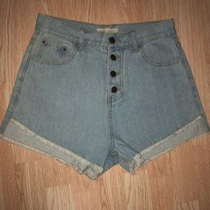 NWT Moon River button fly shorts